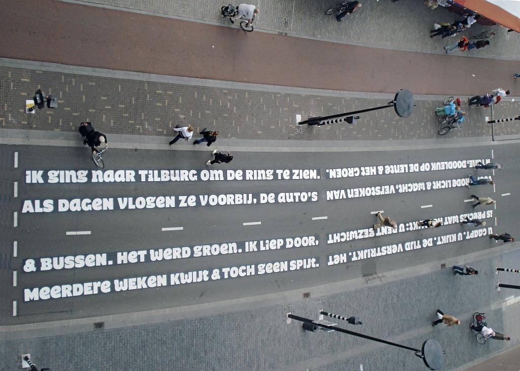 4. Gedicht van Nick J. Swarth en Sander Neijnens op de Paleisring in Tilburg door www.onsitepoetry.eu